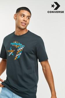 חולצת טי שחורה של Converse