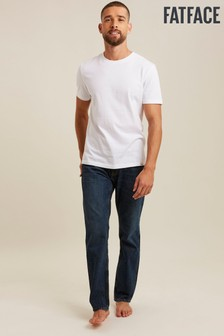 FatFace Denim Straight Mid Wash Jeans