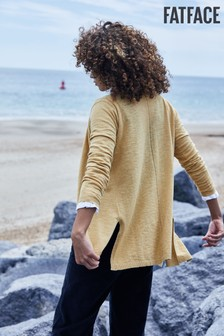 FatFace Yellow Darcey Cardigan