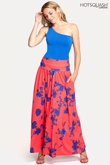 HotSquash Red Roll Top Maxi Skirt