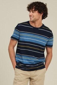 FatFace Indigo Mix Stripe T-Shirt