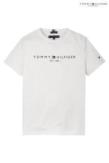 تي شيرت شعار أساسي أبيض من Tommy Hilfiger