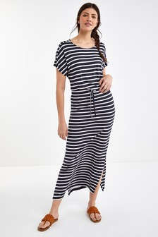 Платье макси с короткими рукавами