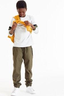 Брюки с подкладкой без застежки в стиле милитари (3-16 лет)