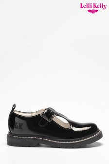 Lelli Kelly Black Patent Bow Shoes