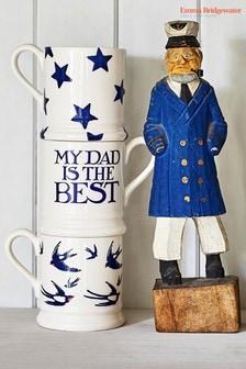 "Emma Bridgewater Blaue Tasse ""Toast And Marmalade My Dad Is The Best"""