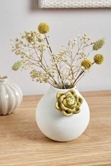 Váza s pukom sukulentu