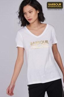 Barbour® International Hurricane T-Shirt mit Logo in Metallic-Optik