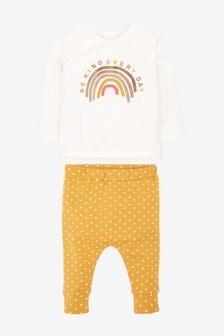Футболка с радугой и спортивные брюки (комплект) (0 мес. - 2 лет)