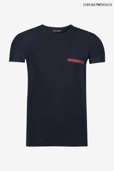 Emporio Armani家居服Block標誌T恤