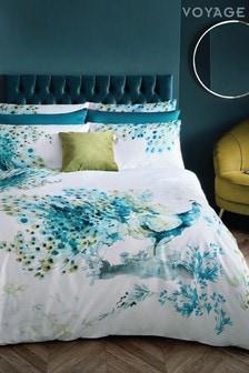 Voyage Green Wimborne Duvet Cover and Pillowcase Set