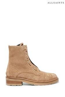 Песочные замшевые ботинки AllSaints Ariel