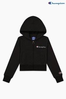 Champion Black Hooded Full Zip Sweatshirt