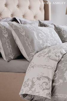 Set of 2 Laura Ashley Dove Grey Josette Pillowcases
