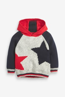Cosy Star Knitted Hoody (3mths-7yrs)