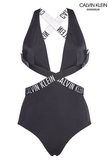 Calvin Klein Black Intense Power Crossover Swimsuit