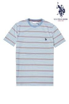 U.S. Polo Assn. トライカラー ストライプ Tシャツ