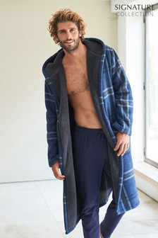 Signature Borg Lined Check Dressing Gown (246929)   $58