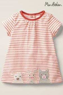 Boden Pink Big Appliqué Jersey Dress