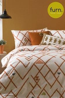 Komplet poszewek na kołdrę i poduszki w geometryczne wzory Furn Inka