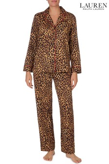 Lauren Ralph Lauren® Animal Sateen Notch Collar Pyjama Set