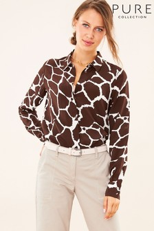 Pure Collection Animal Washed Silk Relaxed Blouse
