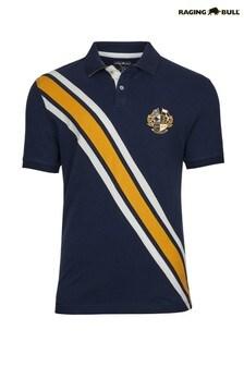 Raging Bull Blue Piqué Cut And Sew Polo Shirt