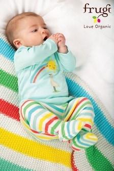 Frugi GOTS Organic Rainbow Pull-Ups With Feet