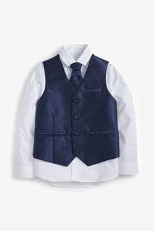 Wedding Waistcoat, Shirt And Tie Set (12mths-16yrs)