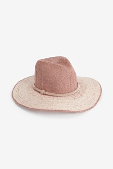 金色巴拿馬寬邊帽