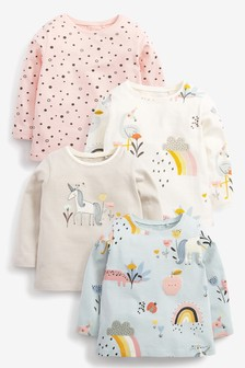 4 Pack Unicorn Organic Cotton T-Shirts (3mths-7yrs)