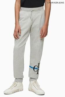 Calvin Klein Grey Monogram Stripe Joggers
