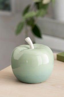 Green Ceramic Apple Ornament