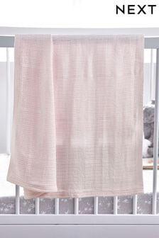 Одеяло из органического хлопка ячейной вязки