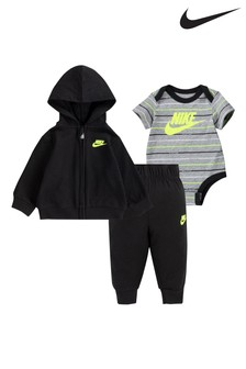 Nike Baby Black 3 Piece Tracksuit And Vest Set