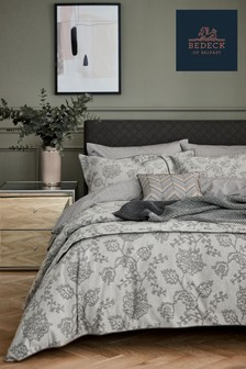 Bedeck of Belfast Canna Botanical Floral Jacquard Cotton Throw