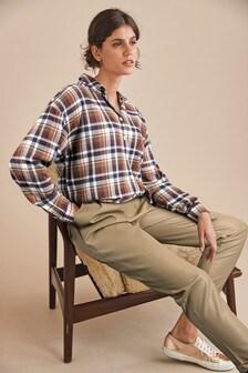 Check Boyfriend Shirt