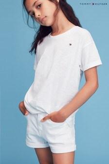 Tommy Hilfiger White Nora Denim Shorts
