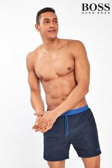 מכנסי שחייה בהדפס כוכב ים של BOSS