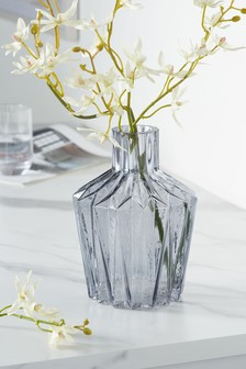 Pleated Glass Vase