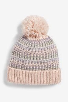 Fairisle Pattern Beanie Hat (Younger)