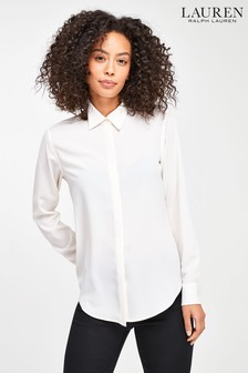 Кремовая рубашка свободного крояLauren Ralph Lauren® Kristy