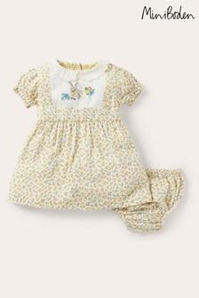 فستان أصفر أرنب بياقة بأبليك منBoden