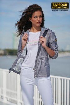 Barbour® International Thunderbolt Boyfriend-T-Shirt, Weiß