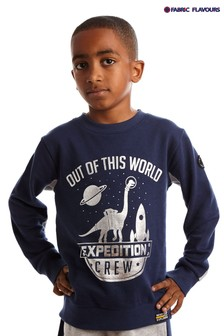 Fabric Flavours Blue OOTW Expedition Crew Sweatshirt