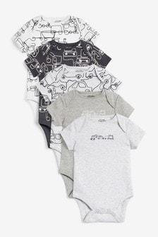 5 Pack Short Sleeve Bodysuits (0mths-3yrs) (249324)   $21 - $24