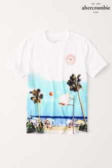 Abercrombie & Fitch White Basketball T-Shirt