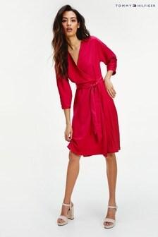 فستان لف Sylvia وردية من Tommy Hilfiger