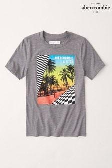 Abercrombie & Fitch Grey Palm Print T-Shirt