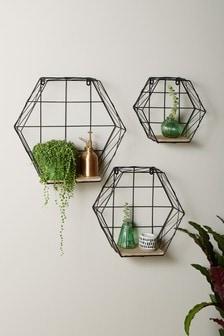 Bronx Hexagon Shelves